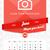 2016 · fal · havi · naptár · év · vektor - stock fotó © mikhailmorosin