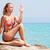 yoga · mujer · relajante · mar · amanecer · puesta · de · sol - foto stock © milanmarkovic78