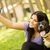 sevimli · genç · kadın · köpek - stok fotoğraf © milanmarkovic78