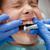 dentysta · piękna · bać · dziewczynka · wizyta - zdjęcia stock © MilanMarkovic78
