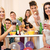 znajomych · house · party · mała · grupa · młodych · ludzi · cieszyć · się · czasu - zdjęcia stock © MilanMarkovic78