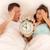 nő · alszik · ágy · fókusz · ébresztőóra · léggömb - stock fotó © milanmarkovic78