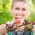 fiatal · nő · tart · virág · portré · fiatal · gyönyörű · nő - stock fotó © MilanMarkovic78