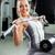jonge · vrouw · gymnasium · machine · sport · fitness - stockfoto © milanmarkovic78