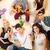 znajomych · domu · strony · mała · grupa · młodych · ludzi · powyżej - zdjęcia stock © MilanMarkovic78