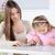 母親 · 娘 · 手 · 笑顔 · 顔 - ストックフォト © milanmarkovic78
