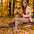 relaxante · ensolarado · floresta · mulher · jovem · livro - foto stock © milanmarkovic78