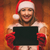 girl with santa hat and tablet stock photo © milanmarkovic78