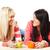 два · друзей · пить · чай · говорить - Сток-фото © milanmarkovic78