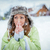 genç · kadın · kış · elbise · ayakta · kar · gülen - stok fotoğraf © milanmarkovic78