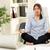 mujer · de · negocios · meditando · oficina · sesión · silla - foto stock © milanmarkovic78