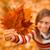 outono · mulher · cair · folhas · floresta - foto stock © milanmarkovic78