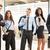 grupy · młodych · ludzi · biznesu · stałego · na · zewnątrz · biuro - zdjęcia stock © MilanMarkovic78