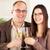 paar · woonkamer · drinken · champagne · glimlachend · man - stockfoto © milanmarkovic78