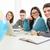 diákok · tanul · négy · gyönyörű · ül · laptop - stock fotó © MilanMarkovic78