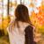 pensativo · menina · ensolarado · floresta · mulher · jovem · leitura - foto stock © milanmarkovic78