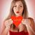 kadın · kırmızı · kalp · öpücük - stok fotoğraf © milanmarkovic78