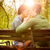 kisses on a park bench stock photo © milanmarkovic78