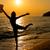 silhueta · saltar · menina · água · mulher · dançar - foto stock © milanmarkovic78