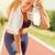 nő · pihen · sportok · fitnessz · mosolyog · profil - stock fotó © milanmarkovic78