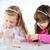 aranyos · kislányok · kettő · készít · üveggyöngy · ékszerek - stock fotó © MilanMarkovic78