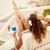 vrouw · genieten · strand · activiteit · Maakt · een · reservekopie · kant - stockfoto © milanmarkovic78