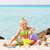 little girl playing on the beach stock photo © milanmarkovic78
