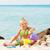 petite · fille · jouer · plage · mer · fille · enfant - photo stock © milanmarkovic78