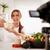 aantrekkelijk · blogger · meisje · video · mooie - stockfoto © MilanMarkovic78