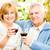 starszy · para · wina · romans · śmiechem · wraz - zdjęcia stock © milanmarkovic78