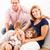 famille · heureuse · belle · séance · tapis · femme · famille - photo stock © MilanMarkovic78