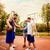 basketbalveld · groene · park · huizen · sport - stockfoto © milanmarkovic78