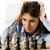 jóvenes · mujer · de · negocios · jugando · ajedrez · negocios · moda - foto stock © milanmarkovic78