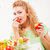 обед · гостиной · улыбаясь · девушки - Сток-фото © milanmarkovic78
