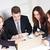 zespół · firmy · cztery · szczęśliwy · ludzi · biznesu · patrząc · projektu - zdjęcia stock © MilanMarkovic78