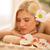 cute · dziewczyna · spa · centrum · piękna · młoda · kobieta - zdjęcia stock © milanmarkovic78