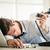 esgotado · empresário · adormecido · secretária · escritório · homem - foto stock © milanmarkovic78