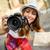 улыбаясь · девушки · туристических · карта · город · праздников - Сток-фото © milanmarkovic78
