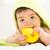 portré · baba · fiú · ágy · gyermek · kék - stock fotó © milanmarkovic78