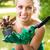 ültet · virágok · mosolyog · fiatal · nő · kert · nő - stock fotó © MilanMarkovic78