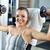 jonge · vrouw · triceps · oefening · cute · fitness - stockfoto © milanmarkovic78