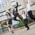 młodych · ludzi · biznesu · skok · grupy · wesoły · biurowiec - zdjęcia stock © MilanMarkovic78