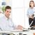 小さな · 上司 · ビジネスマン · 座って · 事務椅子 · ノートパソコン - ストックフォト © MilanMarkovic78