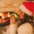 冷たい · 若い女性 · サンタクロース · 帽子 · コーヒー · 茶 - ストックフォト © milanmarkovic78