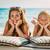 девочку · матери · пляж · воды · девушки · стороны - Сток-фото © milanmarkovic78