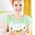 mulher · jovem · salada · de · frutas · belo · cozinha · olhando · câmera - foto stock © MilanMarkovic78