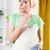 mulher · jovem · cozinha · belo · chantilly · olhando · câmera - foto stock © MilanMarkovic78