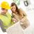építkezés · építész · sikeres · fiatal · megbeszél · tervek - stock fotó © MilanMarkovic78