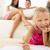 счастливым · девочку · рисунок · карандашей · домой · ребенка - Сток-фото © milanmarkovic78