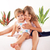 heureux · deux · séance · enfant - photo stock © MilanMarkovic78